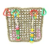 Alfie Pet by Petoga Couture - Kalani Straw Braid Rope Climbing Net for Bird