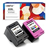 CSSTAR Remanufactured Ink Cartridge Replacement for 63 XL 63XL Combo Pack Use in Envy 4520 4512 4516 OfficeJet 4655 3830 4650 DeskJet 2130 2132 3632 3636 3632 1112 All-In-One Printer, Black and Color
