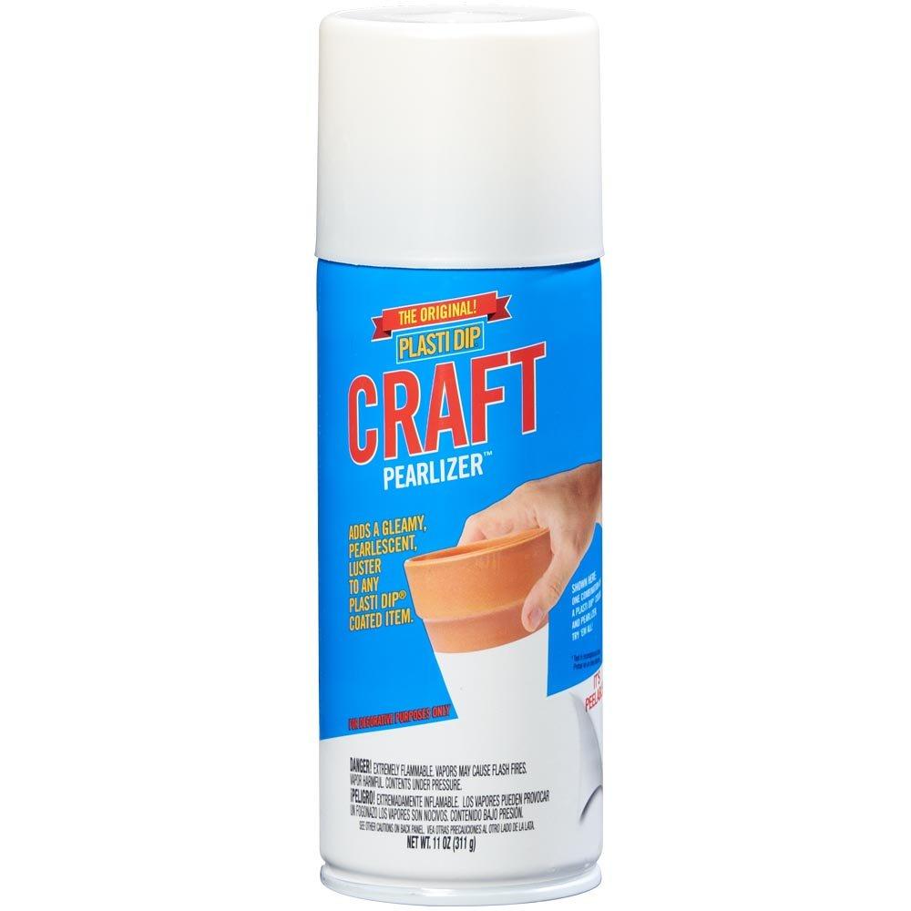 Plasti Dip 11362-6 Plasti Di White Pearlizer Craft Spray, 11oz, Pearl