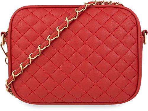 Unbekannt 1359, Borsa a spalla donna rosso rot Piccolo