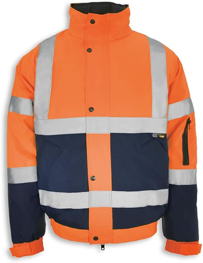 Stormway/® Mens Waterproof Two Tone Bomber Jacket High Visibility Hi Vis Standard Safety Work Wear
