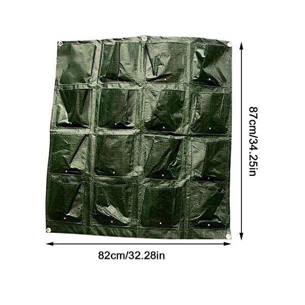 Tasche per Coltivazione, Tasche per Piante, Orto da Parete Verticale Giardino Vivente Beauty Planting Bag Colture per… 5 spesavip