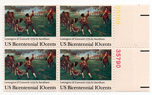 US Postage Stamp 1975 Plate Block Bicentennial Issue 10 Cents Scott #1563