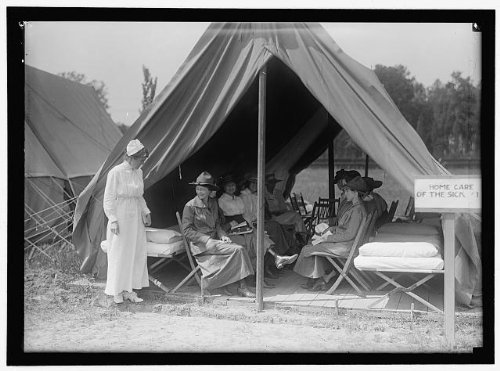 Photo: 1916,American Red Cross,Women's National Service School,instruction,care,nurses