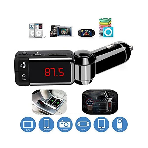 DZT1968 Bluetooth Music Receiver 35mm 60dB Adapter Handsfree U Disk Car AUX Speaker FM Transmitter