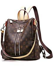 Fashion Leather Backpack Casual Purse for Women,Designer PU Shoulder Bag Handbags Travel Purse