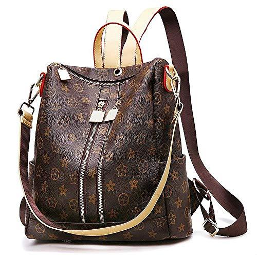 Olyphy Fashion Leather Backpack Casual Purse for Women,Designer PU Shoulder Bag Handbags Travel Purse,