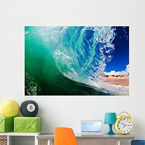 Wallmonkeys Shorebreak Wave Wall Decal Peel and Stick Graphic WM36657 (60 in W x 40 in H)