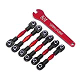 Traxxas TRA8341R Turnbuckles, aluminum (red-anodized), camber links, 32mm (front) (2)/ camber links, 28mm (rear) (2)/ to