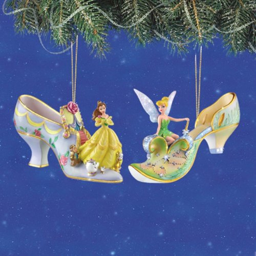 Disney Tinkerbell Kitchen - Disney's Once Upon A Slipper Belle and Tinker Bell Figurine Shoe Ornaments Set of 2