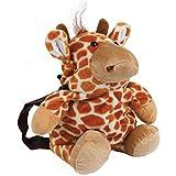 Cuddlee Backpack Soft Plush Animal Back Pack - Giraffe