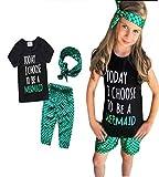 EGELEXY Kids Girls Summer Ruffle Shirts Sequin
