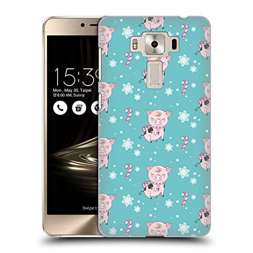 - Official Kristina Kvilis Pig Wreath 1 Christmas Animals 2 Hard Back Case Compatible for Zenfone 3 Deluxe 5.5 ZS550KL