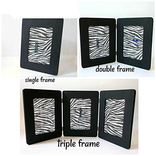 Single, Double, or Triple Black and White Zebra Wild Animal Print Earring Holder Jewelry Organizer