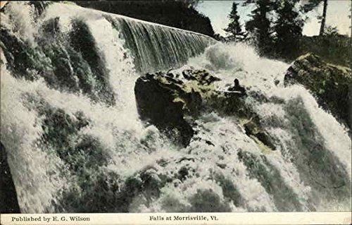 Water Falls Morrisville, Vermont Original Vintage Postcard