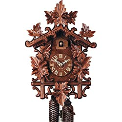 German Cuckoo Clock 8-day-movement Carved-Style 17.10 inch - Authentic black forest cuckoo clock by Rombach & Haas