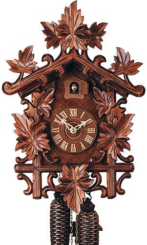 German Cuckoo Clock 8-day-movement Carved-Style 17.10 inch - Authentic black forest cuckoo clock by Rombach & ()