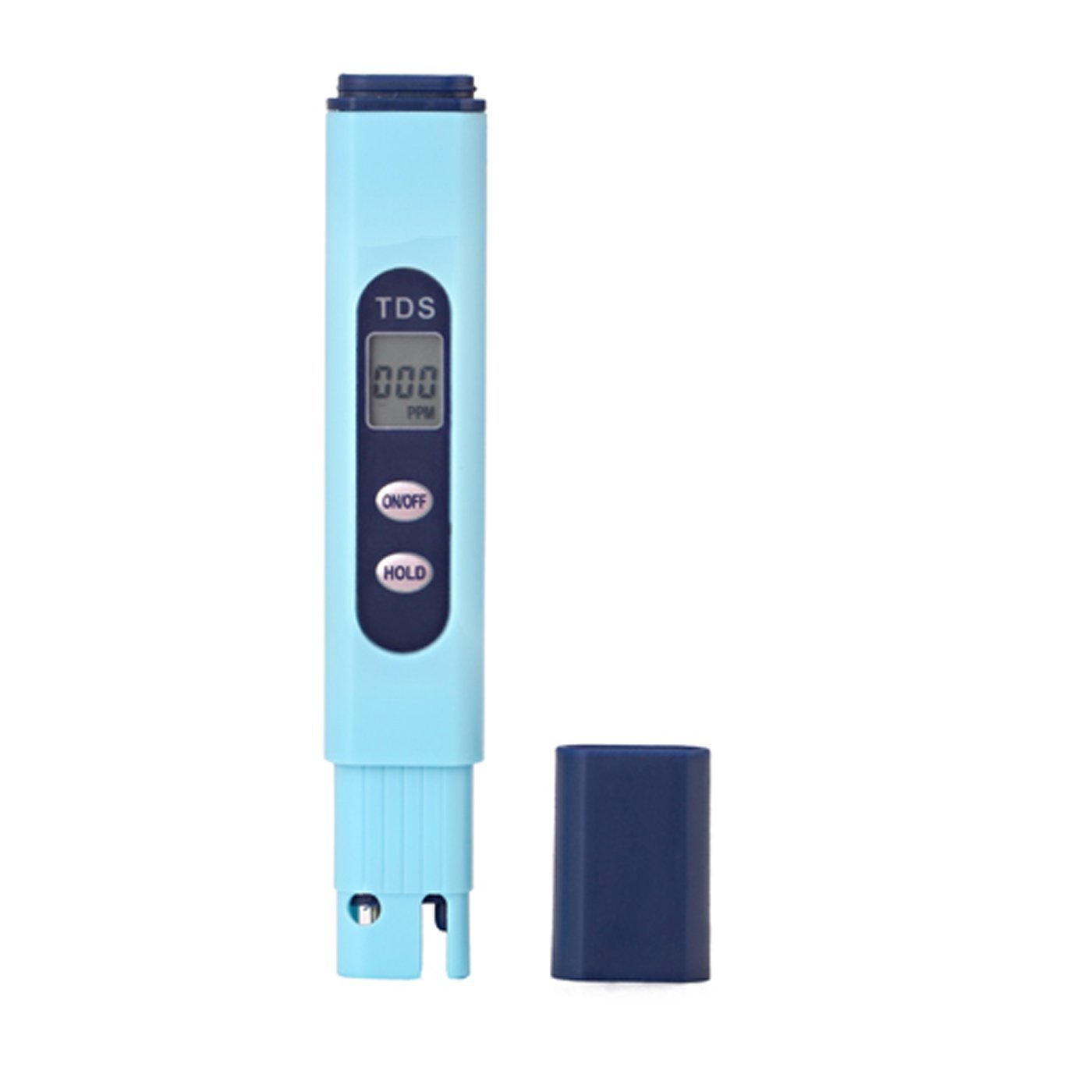 Huanhuatiancheng Digital Handheld Temperature TDS ( PPM ) Tester, 0 - 9990 ppm, 1 ppm Resolution, +/- 2% High Accuracy Testing Water Quality (Blue) by huanhuatiancheng