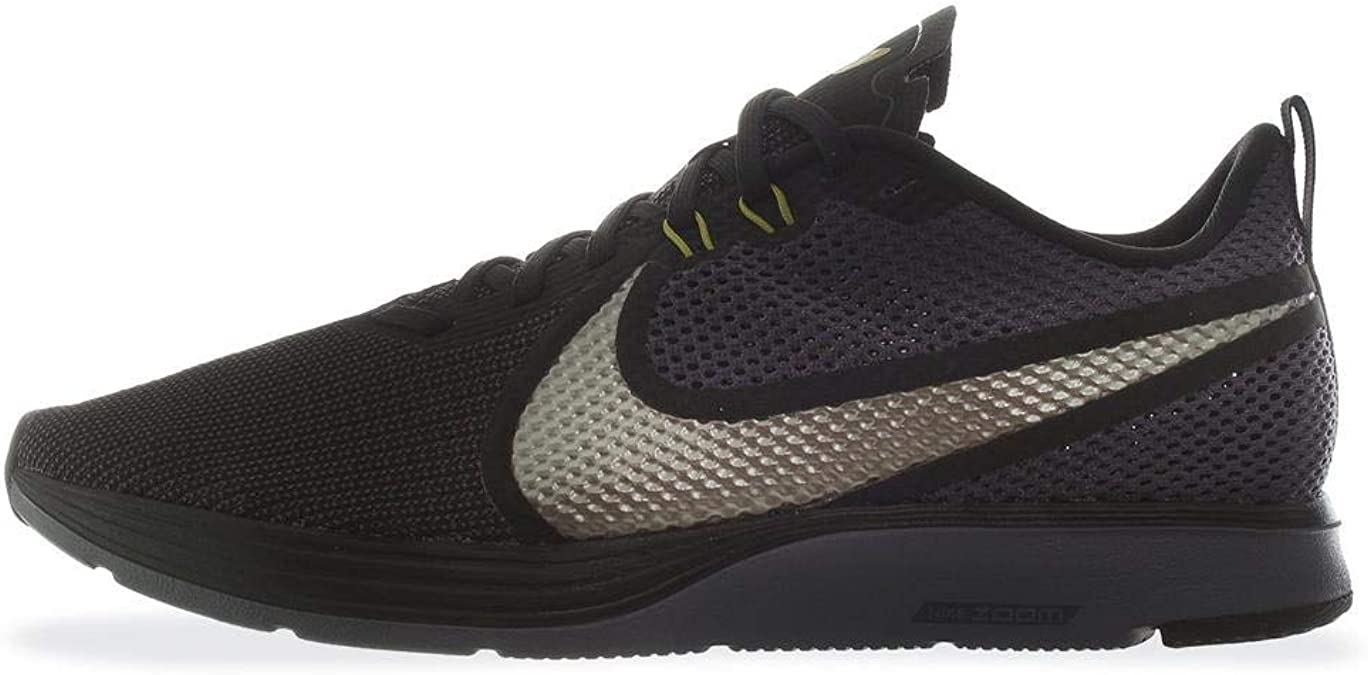 Nike Zapatillas DE Running Zoom Strike 2 Black/MTLC Pewter Gridiron PEA, Deporte Unisex Adulto, Multicolor (Ao1912 004, 45 EU: Amazon.es: Zapatos y complementos