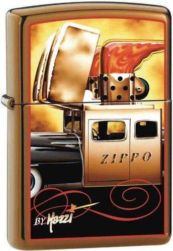 2013N ZIPPO 204B Brush Brass / CI000126-Mazzi Zippo Car (Car Zippo)