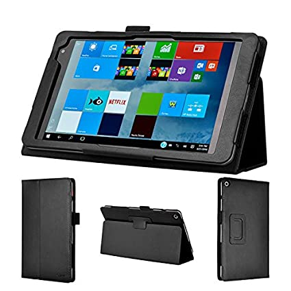 wisers Tablet Case/Cover Compatible with HP Envy 8 Note 8-inch, Black