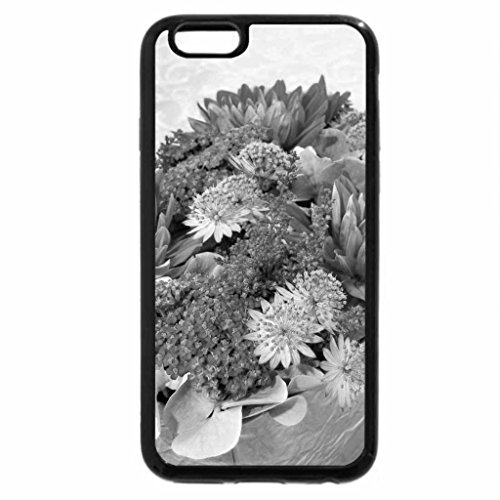 iPhone 6S Case, iPhone 6 Case (Black & White) - Flower