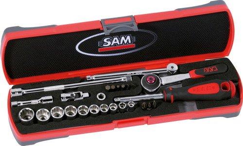 SAM Outillage 73-RE26 Coffret de douilles//accessoires 1//4 26 Outils de 5,5 /à 14 mm