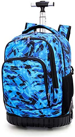 HHYR Business Travel Trolley-Rucksack, Handgepäck in der Passagierkabine Computer-Trolley-Rucksack mit großer Kapazität, leichter Rucksack mit zwei großen Rädern, 31 * 21 * 48 cm