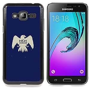 """Qstar Arte & diseño plástico duro Fundas Cover Cubre Hard Case Cover para Samsung Galaxy J3(2016) J320F J320P J320M J320Y (Tan alto como Honor Arryn"""")"""