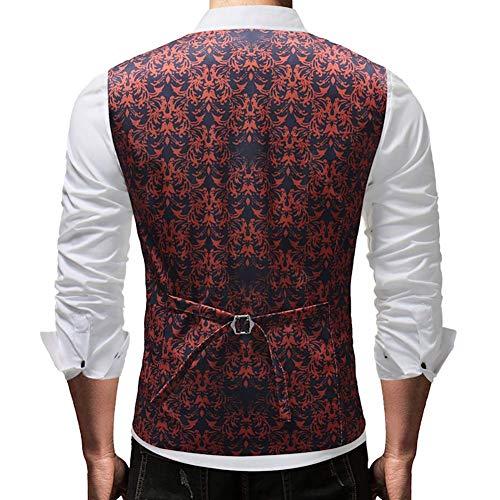 Blazer Taille Manteau Hommes couleur coloré Taille Fuweiencore 4xl Single 1 2xl Décontracté 2018 Mode 1 Work Costume breasted Gilet Vest EfxwSCFq