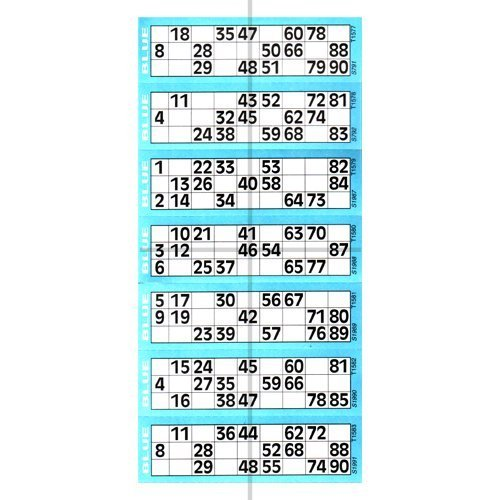 Jumbo Bingo Ticket Singles, 6 to View Pad, Blue by ClubKing Ltd]()