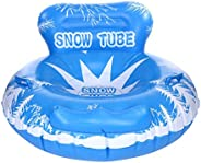 N&F Thickened Double-Layer Inflatable Snow Tube for Kids and Adults Durable Saucer S