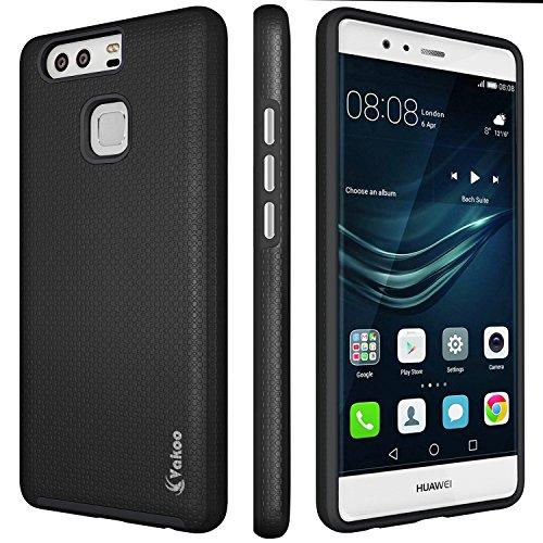 Vakoo Hülle für Huawei P9 [Anti-Shock Case] Schutzhülle, (Schwarz)