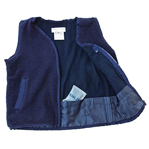 Zippered Chest Pocket (Navy Weighted Fleece Zippered Vest with Pocket)