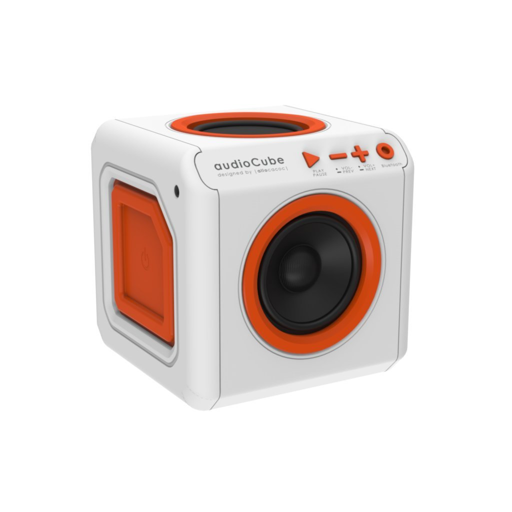 Allocacoc 3901 audioCube |Portable|, A 360° Experience Bluetooth Speaker, Comes with Great Bass