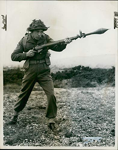 Vintage photo of Anti-Tank Grenade being demonstrated at the Small Arms Schools.