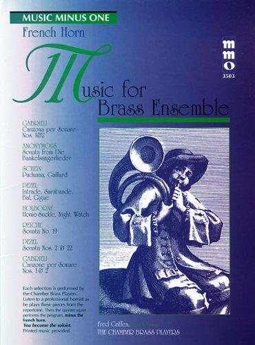Music for Brass Ensemble: Music Minus One French Horn