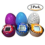 Dinosaur Egg Virtual Pets on a Keychain Digital Pet Electronic Game 3-Pack