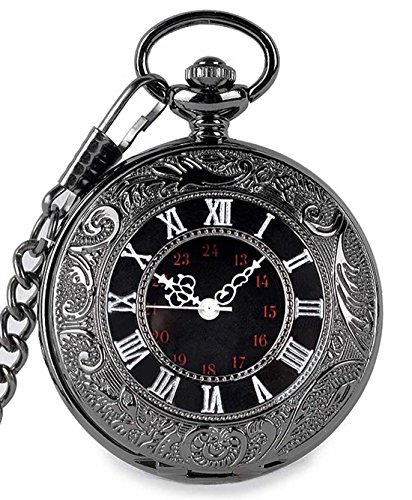 SwitchMe Classic Pocket Watch Quartz Japanese Movement with Belt Clip Chain 3