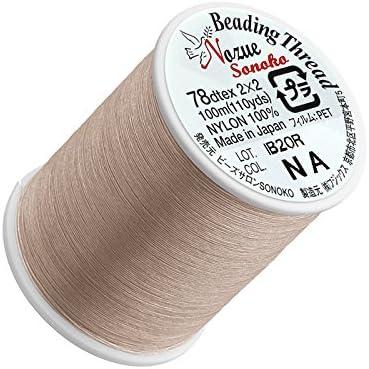 nozue SONOKO nailon hilo para cuentas (0,2 mm), color beige 100 M: Amazon.es: Hogar
