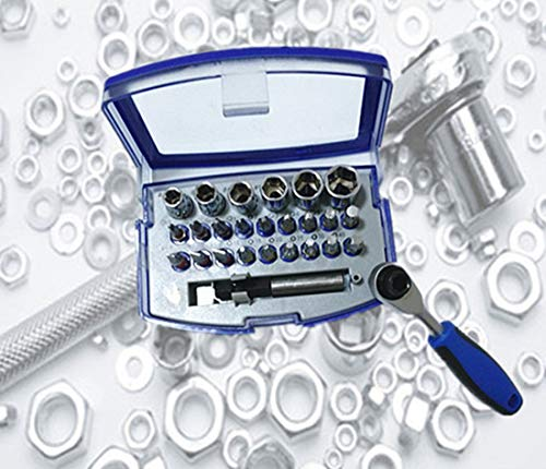 Mini Ratchet Wrench Combination Tools Kit with Box for Home Repairing 26pcs Thsinde
