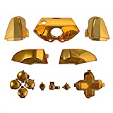 ElementDigital Xbox One Controller Parts Buttons, Gold ABXY Dpad Triggers Chrome Full Buttons Set for Xbox One