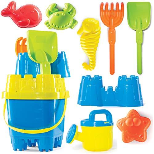 🥇 Prextex 10 Piece Beach Toys Sand Toys Set
