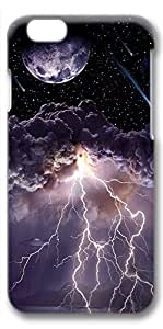 iPhone 6 Plus Case, Ultra Slim Pattern Bumper for iPhone 6 Plus Cover (5.5) Moon Asteroids Storm Clouds Lightning Ideas 3D iPhone 6 Plus cases for Girls iphone 6 Plus case hard PC Skin
