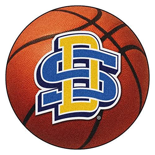 (FANMATS NCAA South Dakota State University Jackrabbits Nylon Face Basketball Rug)