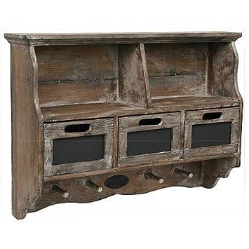 Vintage regal küche  VINTAGE REGAL HOLZREGAL WANDREGAL TAFEL SCHUBLADEN: Amazon.de ...