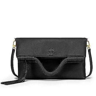 2fb21d7d212 Tory Burch Taylor Convertible Fold Over Crossbody Bag Satchel Handbag  (Black)  Handbags  Amazon.com