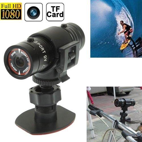 Sport-Kameras, F9 Full HD 1080P Tätigkeits-Sturzhelm-Kamera / Sport-Kamera / Fahrrad-Kamera, Unterstützungs-TF-Karte, 120 Grad-Weitwinkelobjektiv