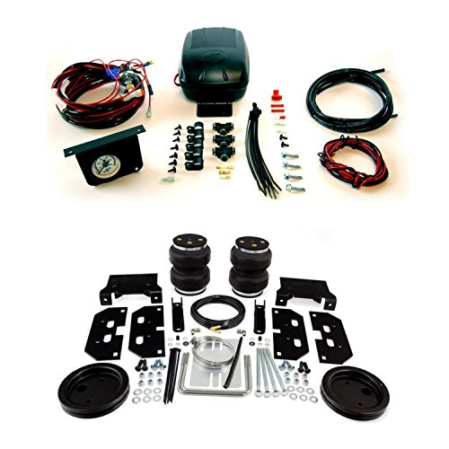 (Air Lift 88295/25592 Rear Set of Load Lifter 5000 Ultimate Series Air Springs w/Load Controller II Single Gauge Air Compressor System Bundle for Dodge/Ram)