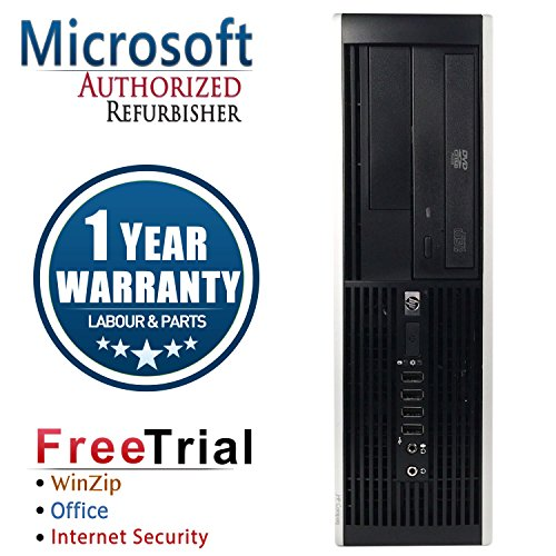 HP Elite 8000 Small Form Business High Performance Desktop Computer PC (Intel C2D E7500 2.93G,4G RAM DDR3,250G HDD,DVD-ROM,Windows 10 Professional) (Certified Refurbished)